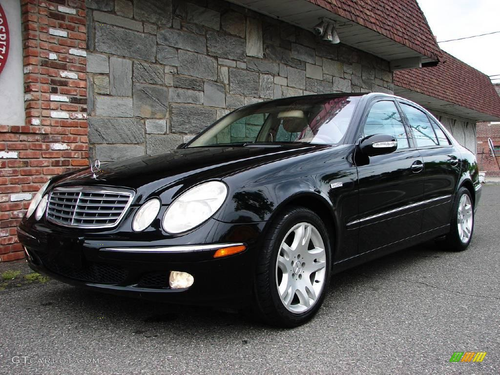 Black 2003 mercedes benz e 500 sedan exterior photo for Mercedes benz 2003