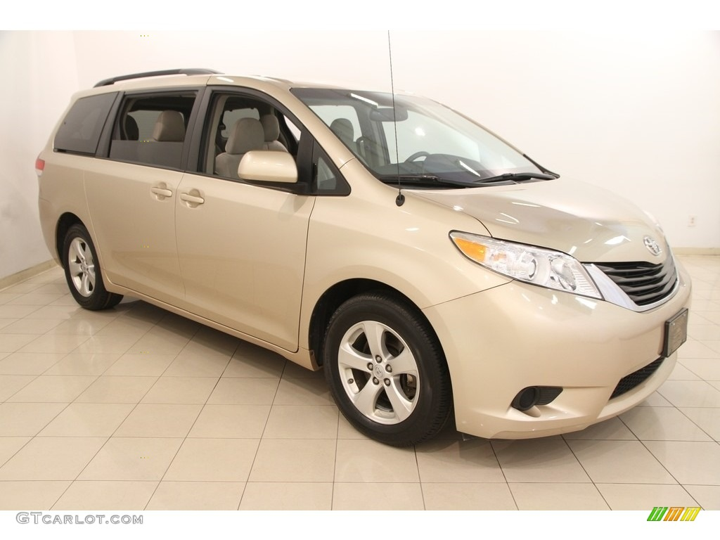 2013 Sienna LE - Sandy Beach Metallic / Bisque photo #1