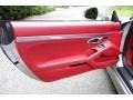 Carrera Red Natural Leather Door Panel Photo for 2013 Porsche Boxster #116152790