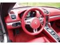 Carrera Red Natural Leather Steering Wheel Photo for 2013 Porsche Boxster #116152904