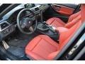 2016 3 Series 340i xDrive Sedan Coral Red Interior