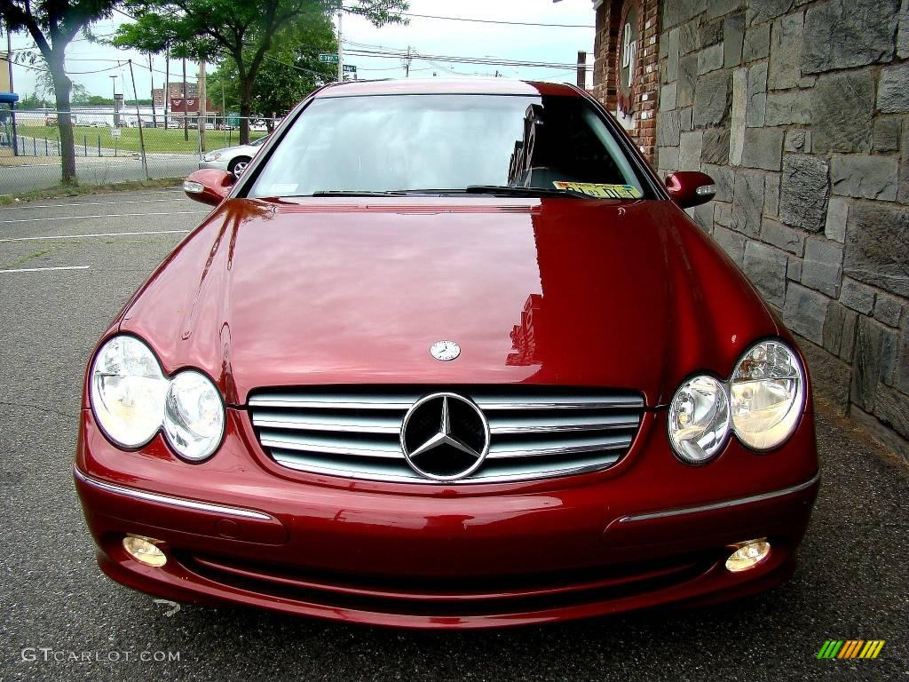 2003 Clk 320 Coupe Firemist Red Metallic Charcoal Photo 1