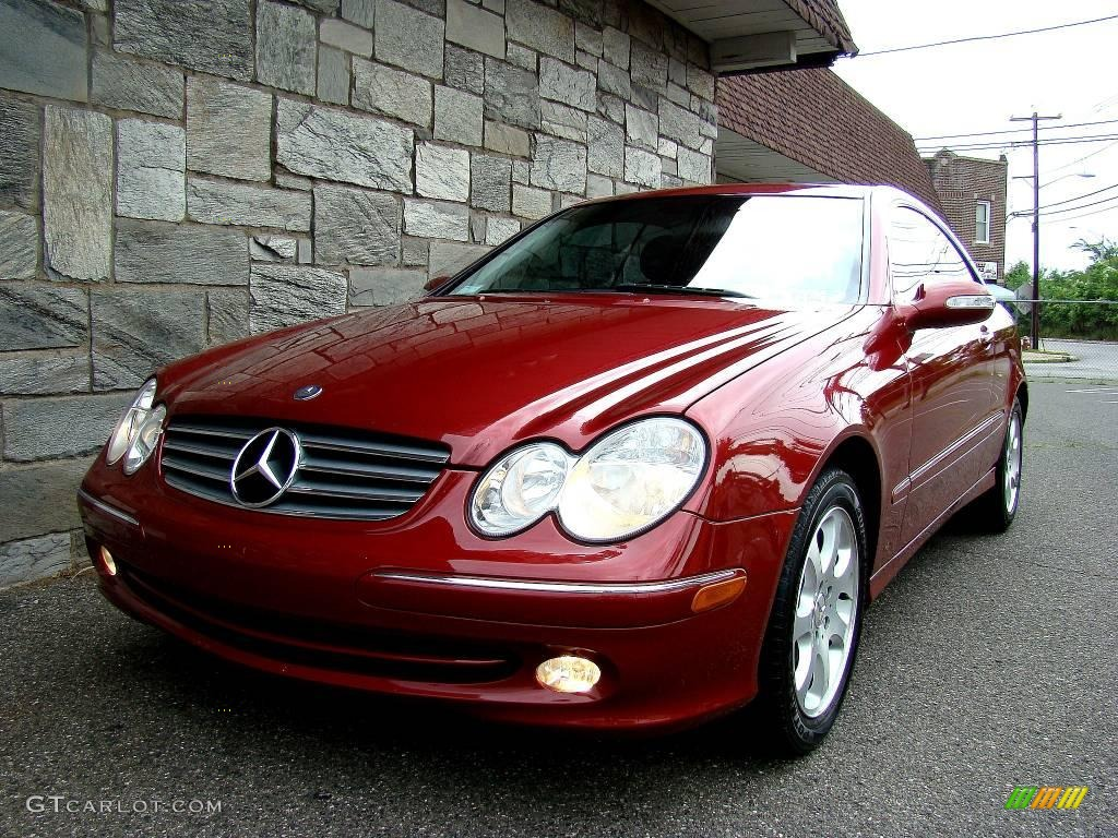 2003 Clk 320 Coupe Firemist Red Metallic Charcoal Photo 22