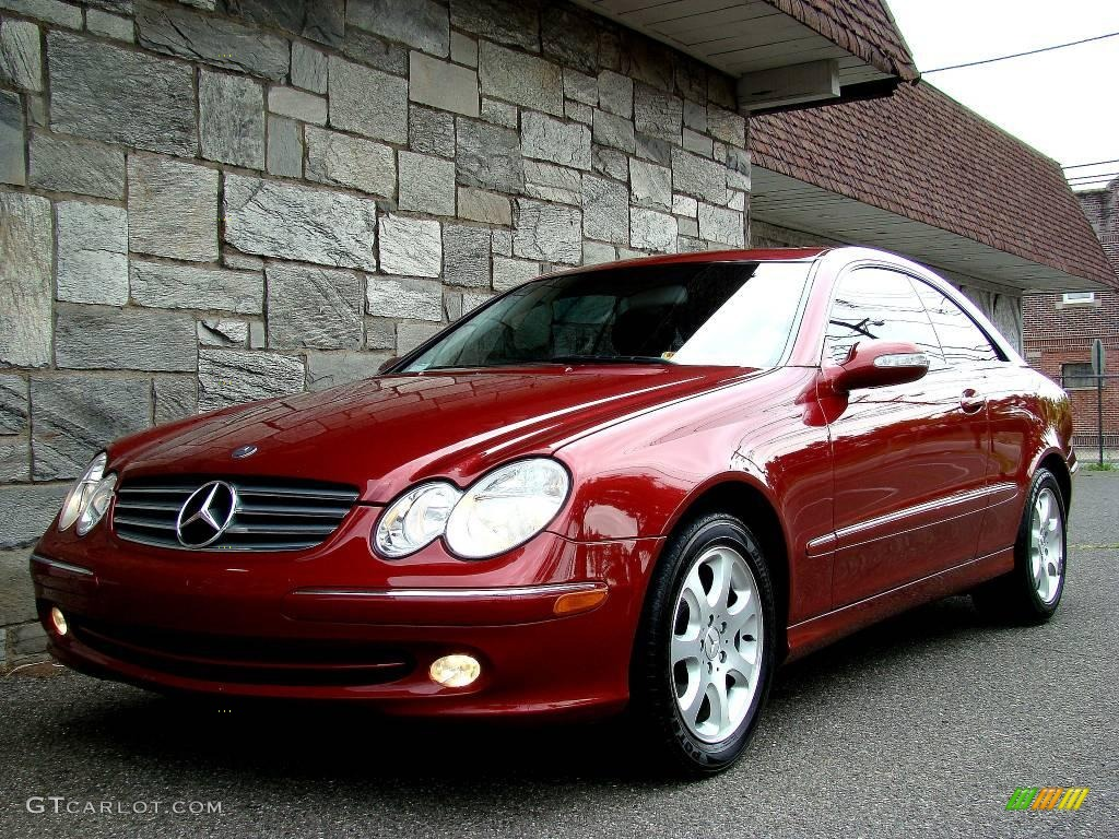2003 Clk 320 Coupe Firemist Red Metallic Charcoal Photo 23