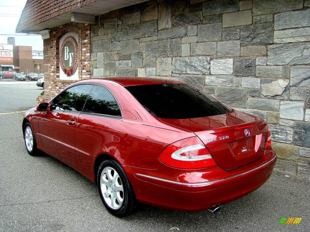 2003 firemist red metallic mercedes benz clk 320 coupe for 2003 mercedes benz clk 320