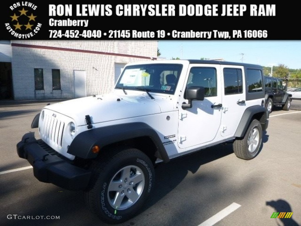 2017 Bright White Jeep Wrangler Unlimited Sport 4x4 116195614 Car Color Galleries