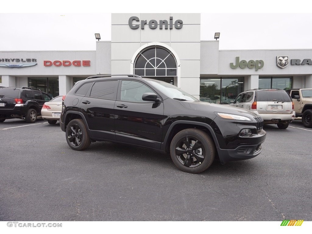 2017 Diamond Black Crystal Pearl Jeep Cherokee Sport Altitude 116222852 Car
