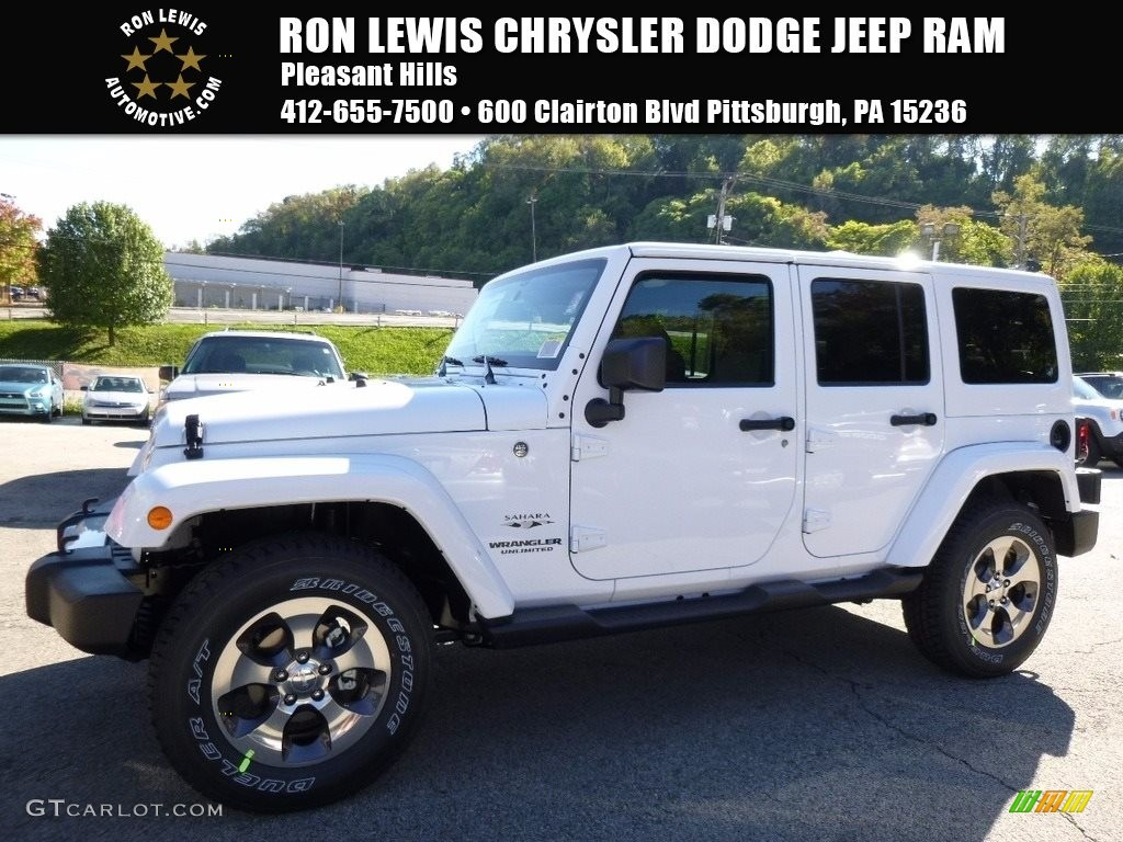 Bright White Jeep Wrangler Unlimited