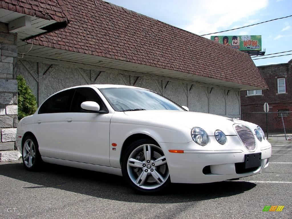White Onyx 2006 Jaguar S-Type R Exterior Photo #11623923 | GTCarLot.com