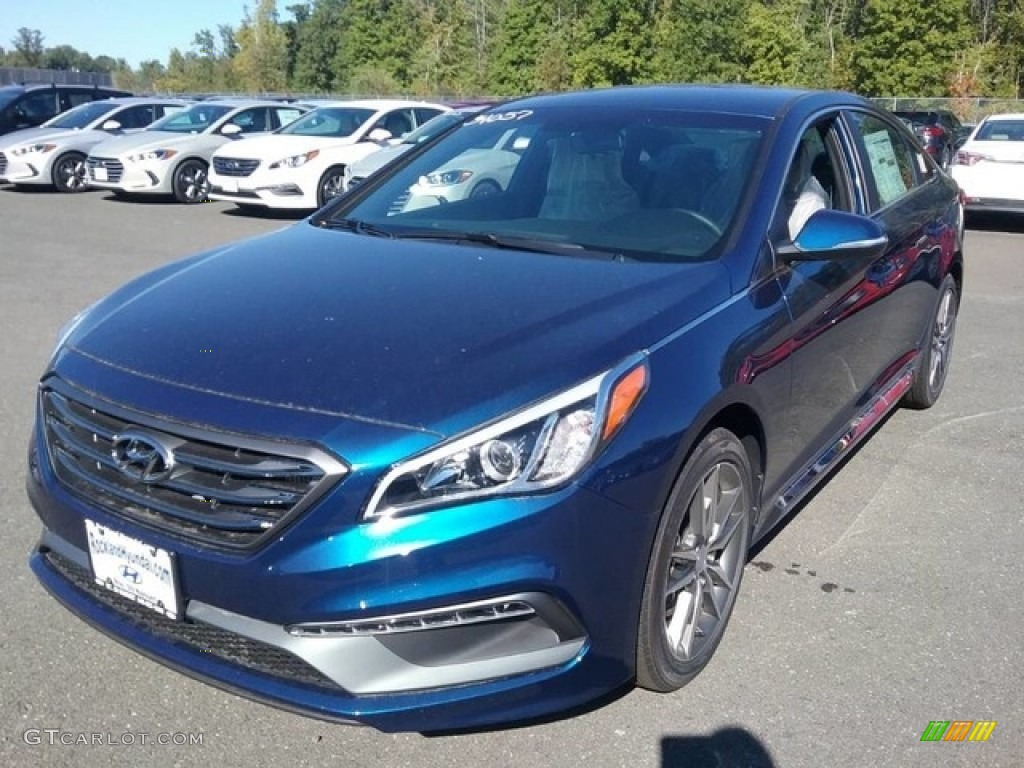 2017 Lakeside Blue Hyundai Sonata Limited 2.0T #116250022 ...