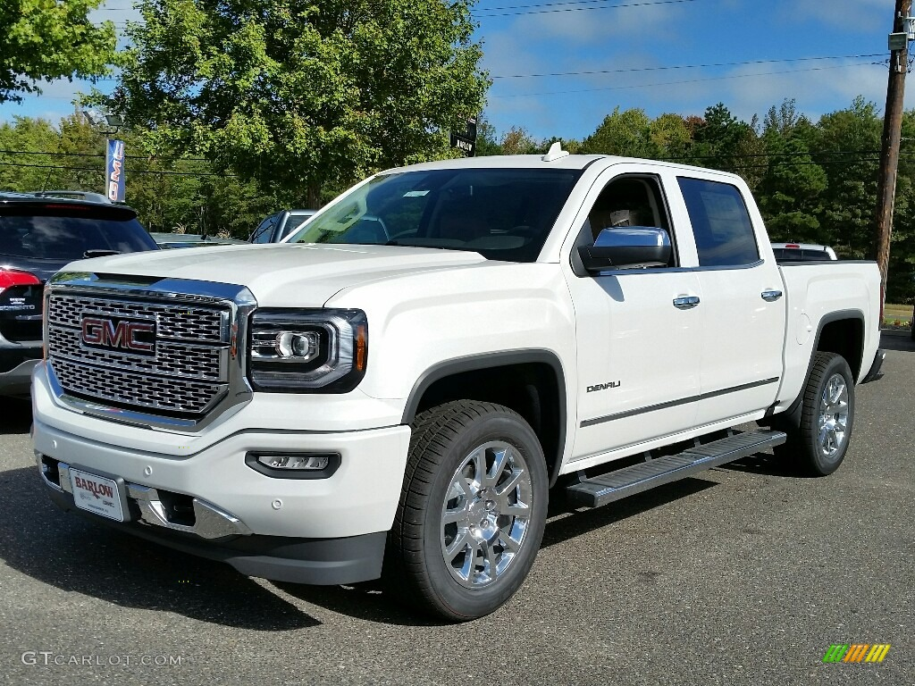 2017 white frost tricoat gmc sierra 1500 denali crew cab 4wd 116249856 car. Black Bedroom Furniture Sets. Home Design Ideas