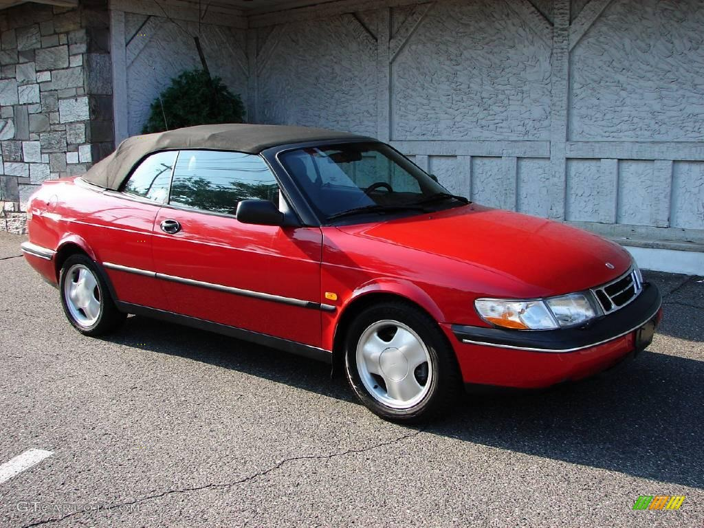 1996 imola red saab 900 se turbo convertible 11578923. Black Bedroom Furniture Sets. Home Design Ideas