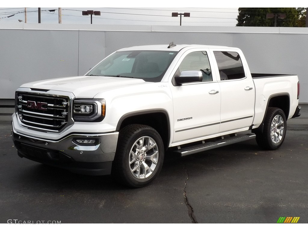 2017 white frost tricoat gmc sierra 1500 slt crew cab 4wd. Black Bedroom Furniture Sets. Home Design Ideas