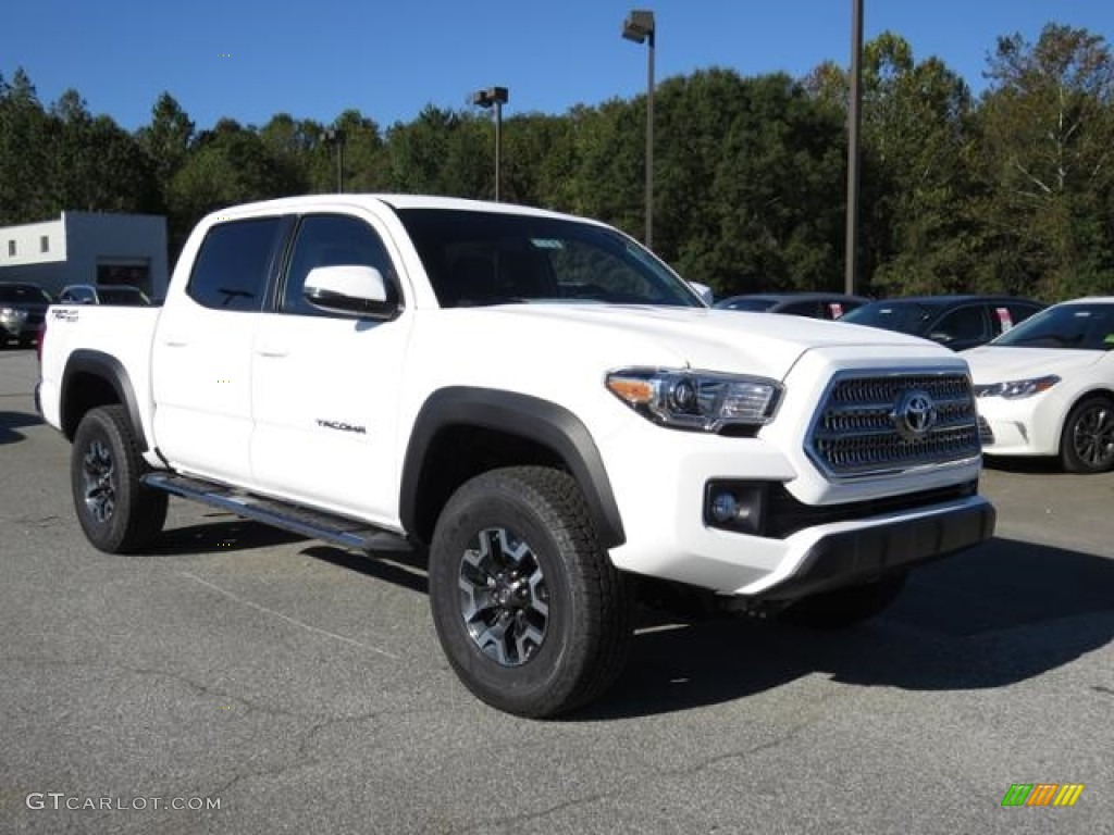 2017 super white toyota tacoma trd off road double cab 4x4 116343949 car color. Black Bedroom Furniture Sets. Home Design Ideas