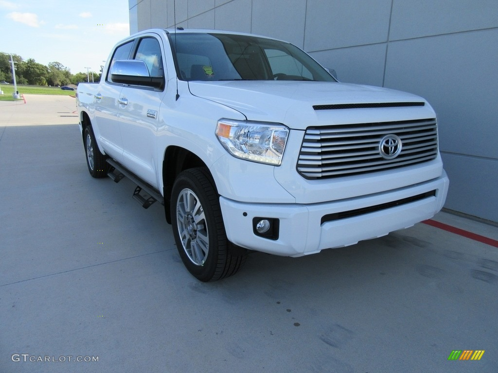2017 super white toyota tundra platinum crewmax 4x4 116344029 car color galleries. Black Bedroom Furniture Sets. Home Design Ideas