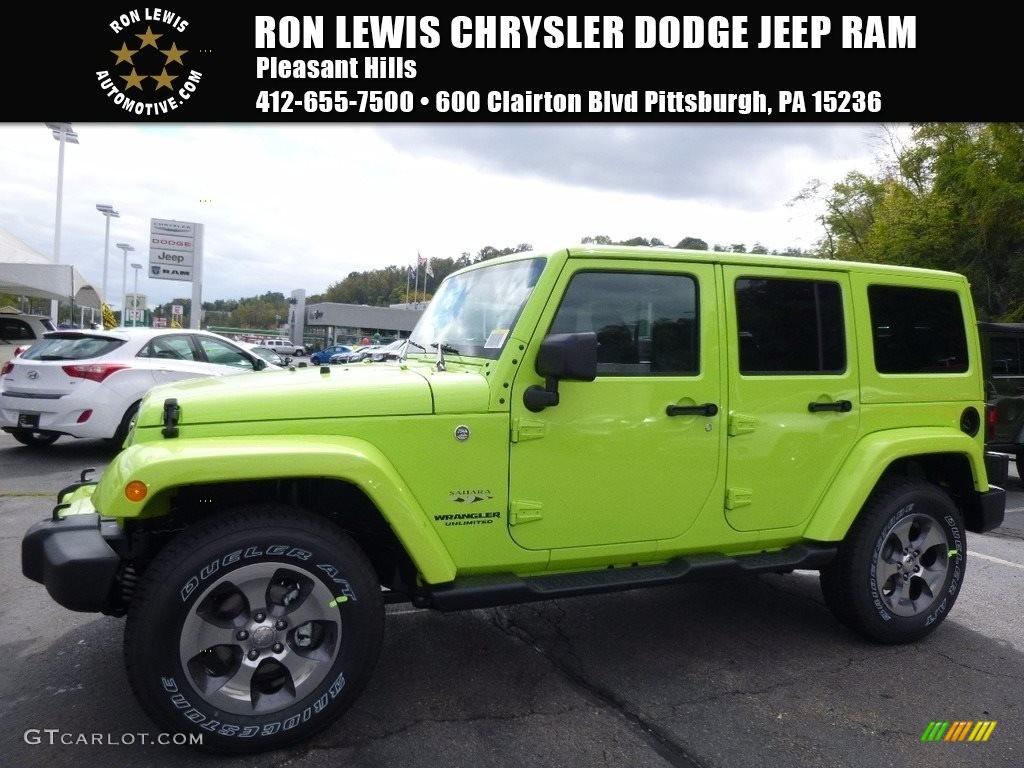 2017 hypergreen jeep wrangler unlimited sahara 4x4 116369825 photo 17 car. Black Bedroom Furniture Sets. Home Design Ideas