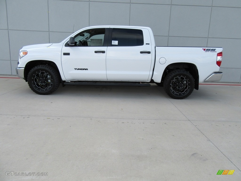 Super White 2017 Toyota Tundra Sr5 Tss Off Road Crewmax