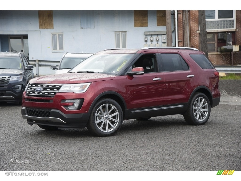 2017 Ruby Red Ford Explorer Limited 4wd 116412111