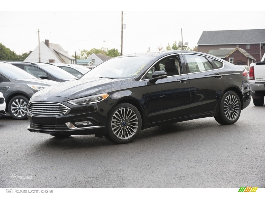 Oxford White Ford Fusion 2017 >> 2017 Shadow Black Ford Fusion SE AWD #116412102 | GTCarLot.com - Car Color Galleries