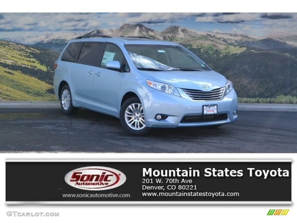 2017 sky blue pearl toyota sienna xle 116463921 car color galleries. Black Bedroom Furniture Sets. Home Design Ideas