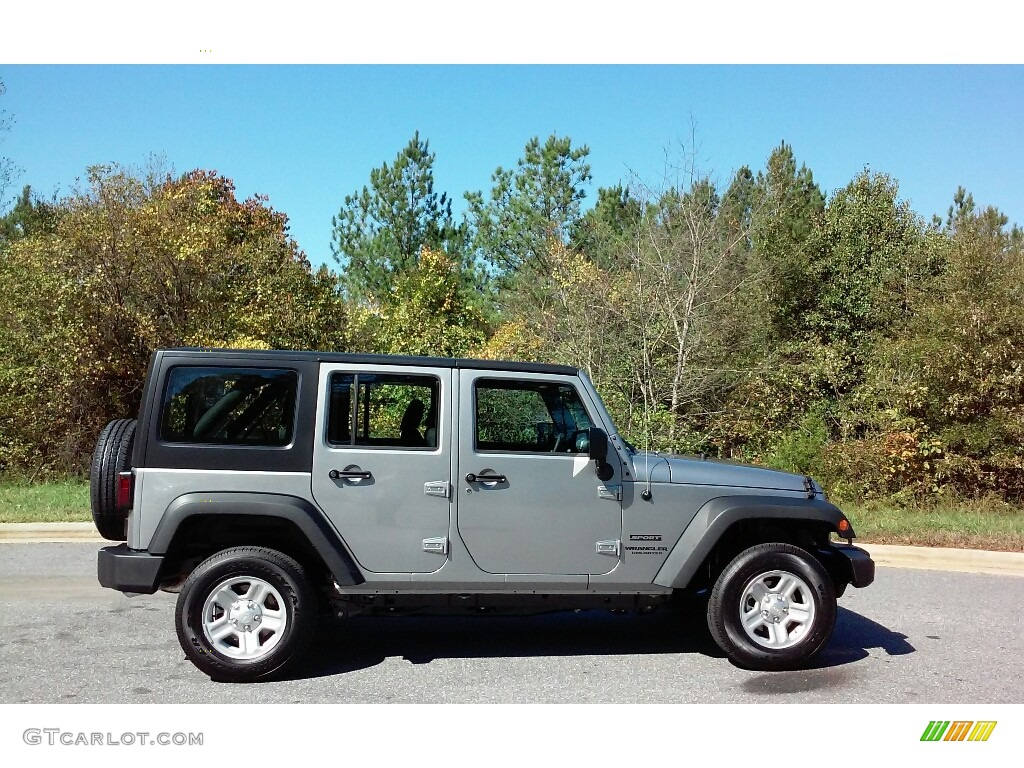 2017 billet silver metallic jeep wrangler unlimited sport 4x4 rhd 116463892. Black Bedroom Furniture Sets. Home Design Ideas
