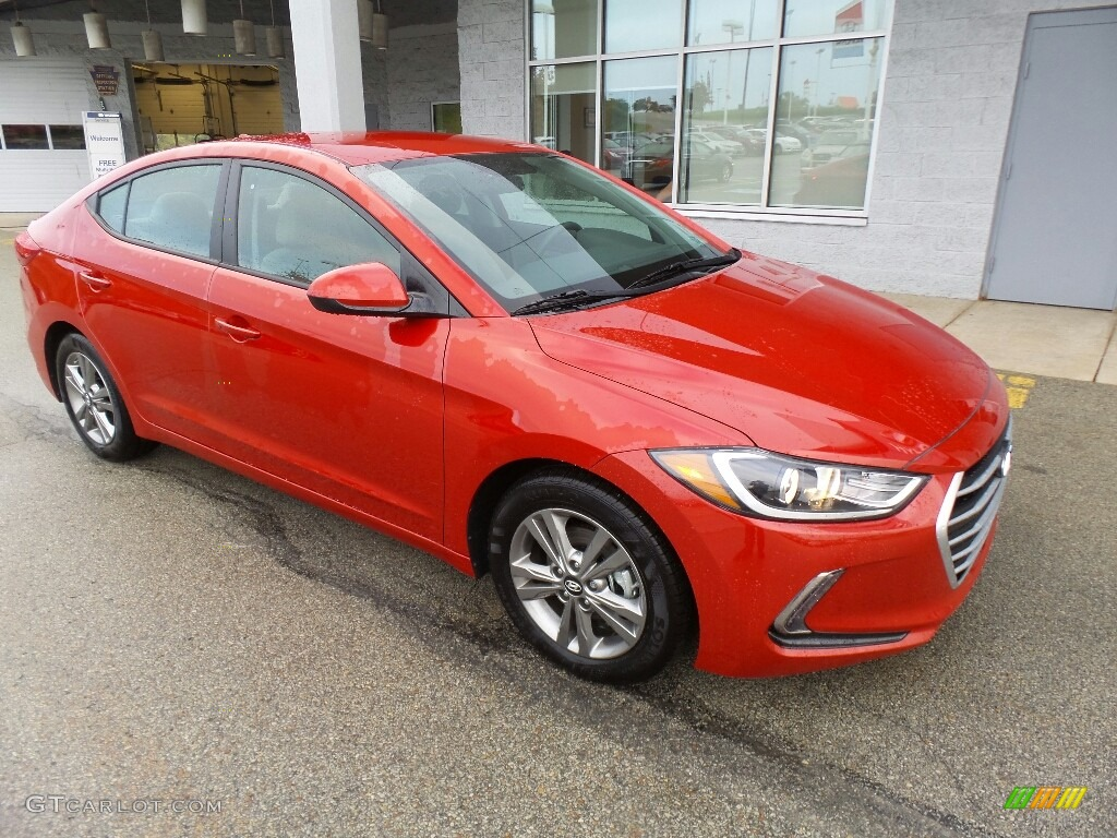 Hyundai Vin Decoder >> 2017 Red Hyundai Elantra SE #116463979 Photo #3 | GTCarLot.com - Car Color Galleries
