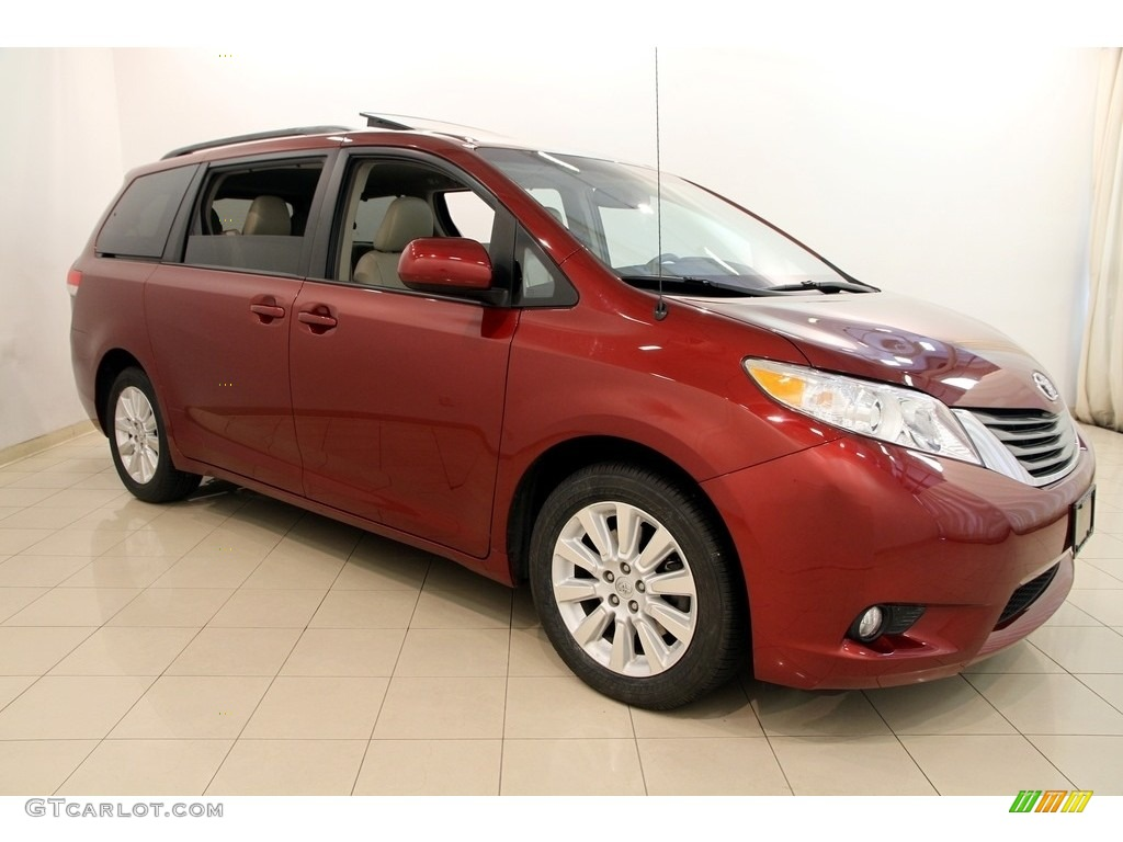 2013 salsa red pearl toyota sienna xle awd 116464178 car color galleries. Black Bedroom Furniture Sets. Home Design Ideas