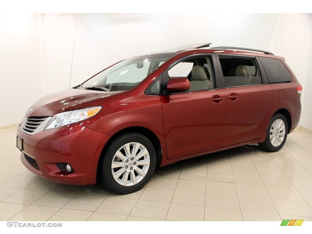salsa red pearl 2013 toyota sienna xle awd exterior photo. Black Bedroom Furniture Sets. Home Design Ideas