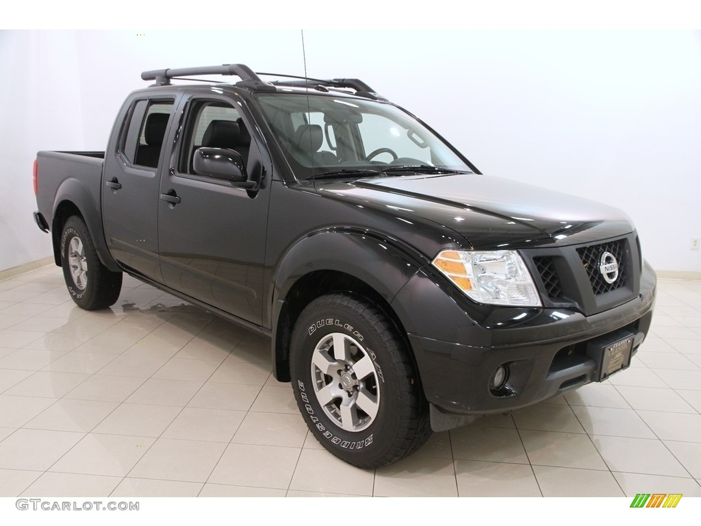 2012 Super Black Nissan Frontier Pro 4x Crew Cab 4x4 116487076 Car Color Galleries