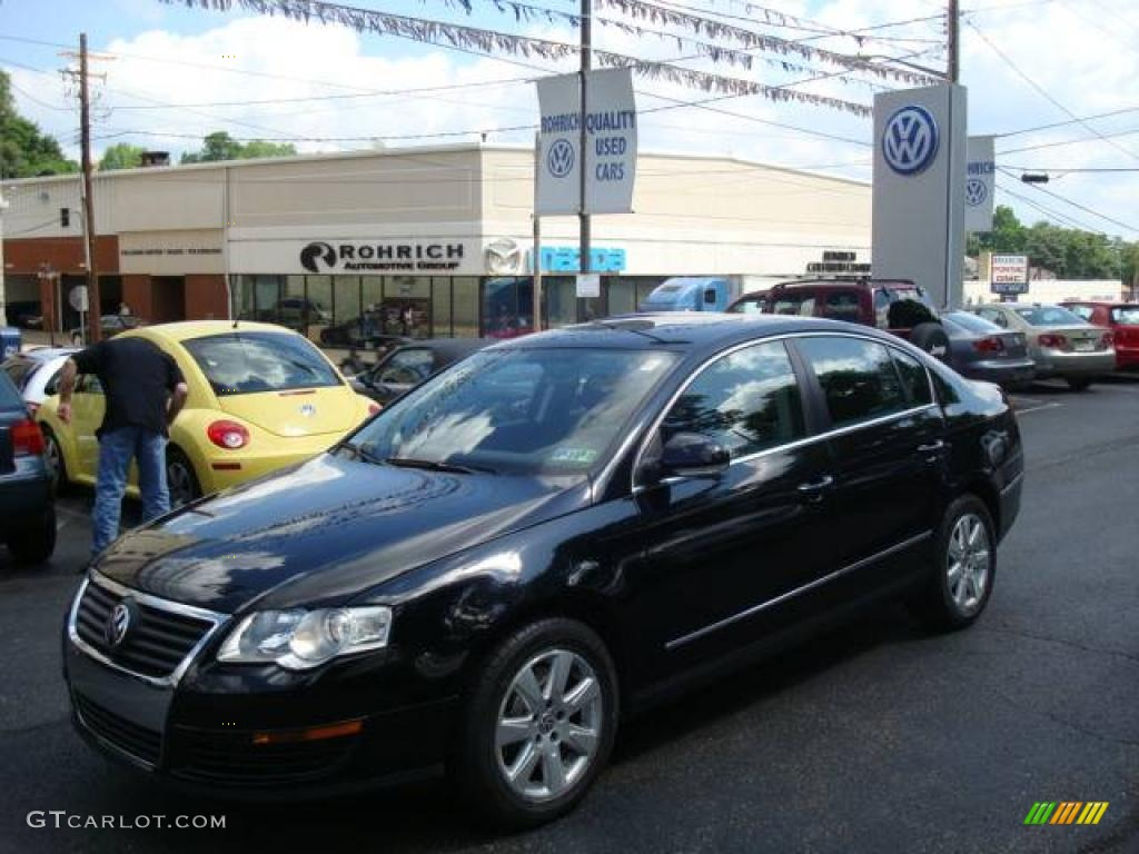 2006 deep black volkswagen passat 2 0t sedan 11633325 car color galleries. Black Bedroom Furniture Sets. Home Design Ideas