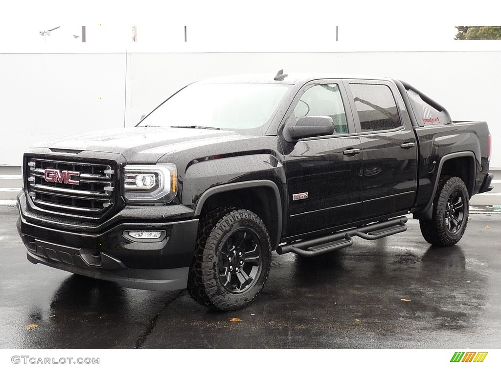 2017 Onyx Black Gmc Sierra 1500 Slt Crew Cab 4wd All Terrain Package 116487051