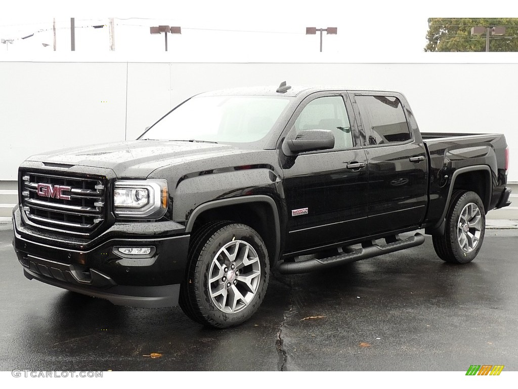 2017 onyx black gmc sierra 1500 slt crew cab 4wd all terrain package 116487049. Black Bedroom Furniture Sets. Home Design Ideas