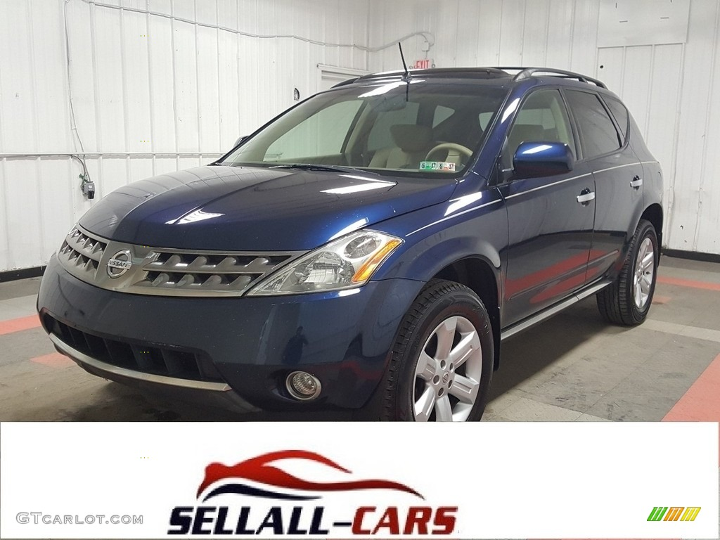 2007 Murano SL AWD - Midnight Blue Pearl / Charcoal photo #1