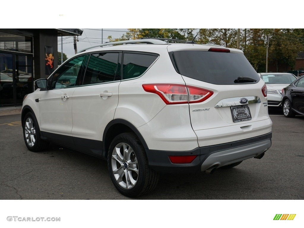 2014 Escape Titanium 2.0L EcoBoost 4WD - White Platinum / Charcoal Black photo #3