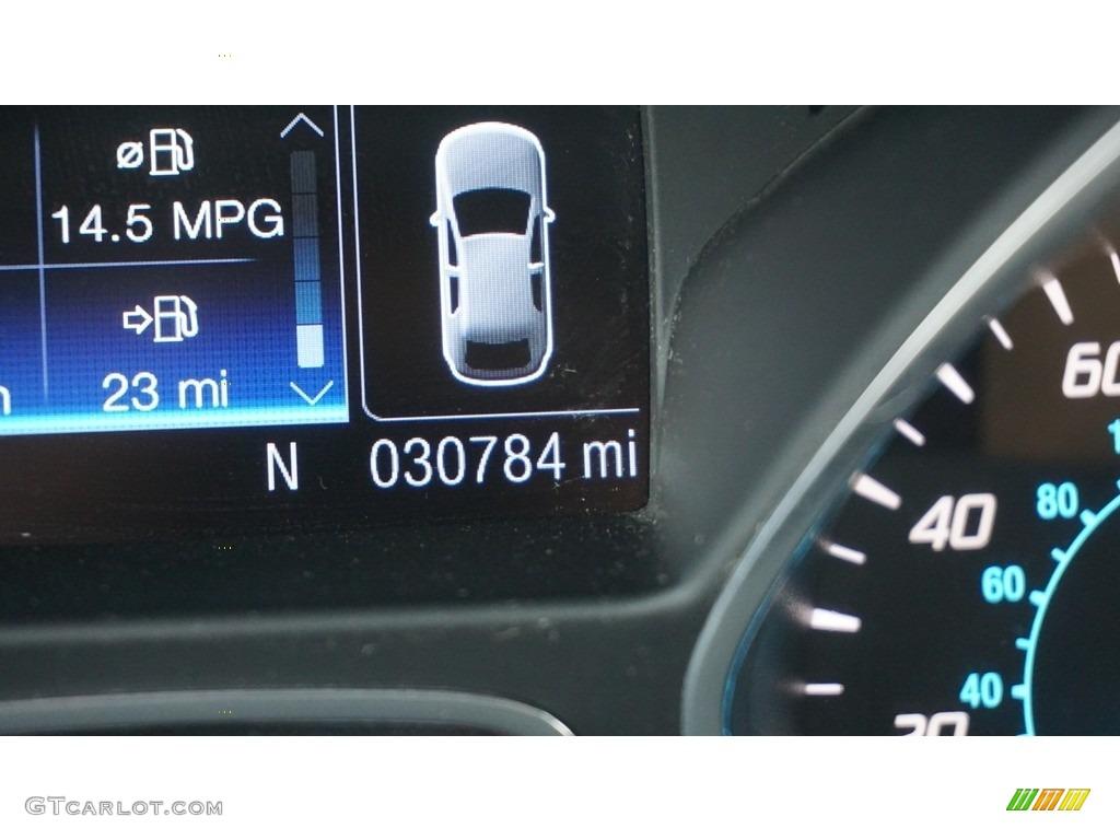 2014 Escape Titanium 2.0L EcoBoost 4WD - White Platinum / Charcoal Black photo #20
