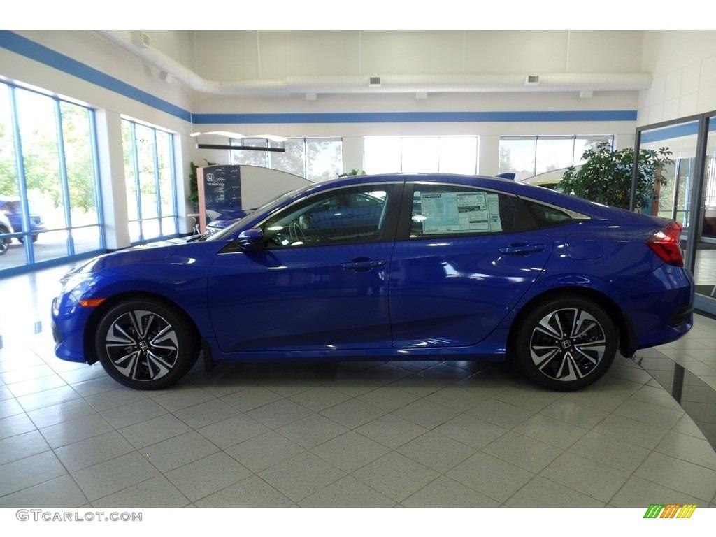 2017 aegean blue metallic honda civic ex t sedan for 2017 honda civic ex t sedan