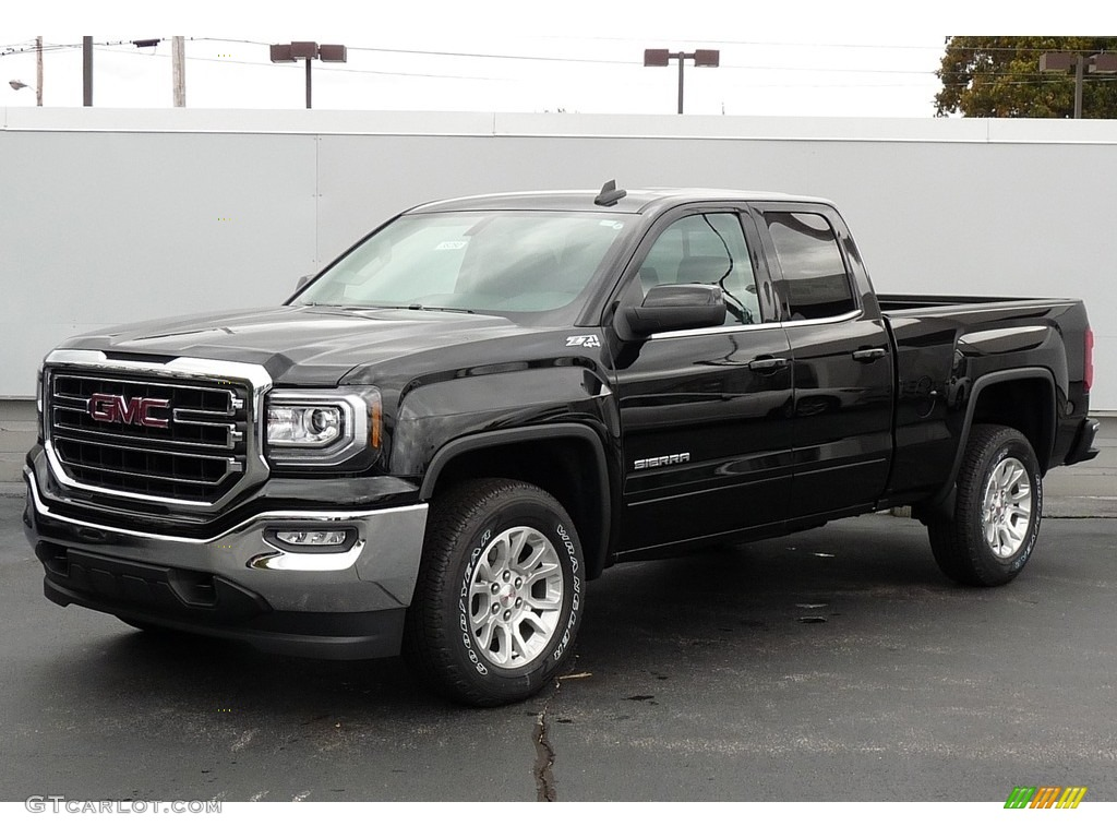 2017 onyx black gmc sierra 1500 sle double cab 4wd 116554460 car color galleries. Black Bedroom Furniture Sets. Home Design Ideas