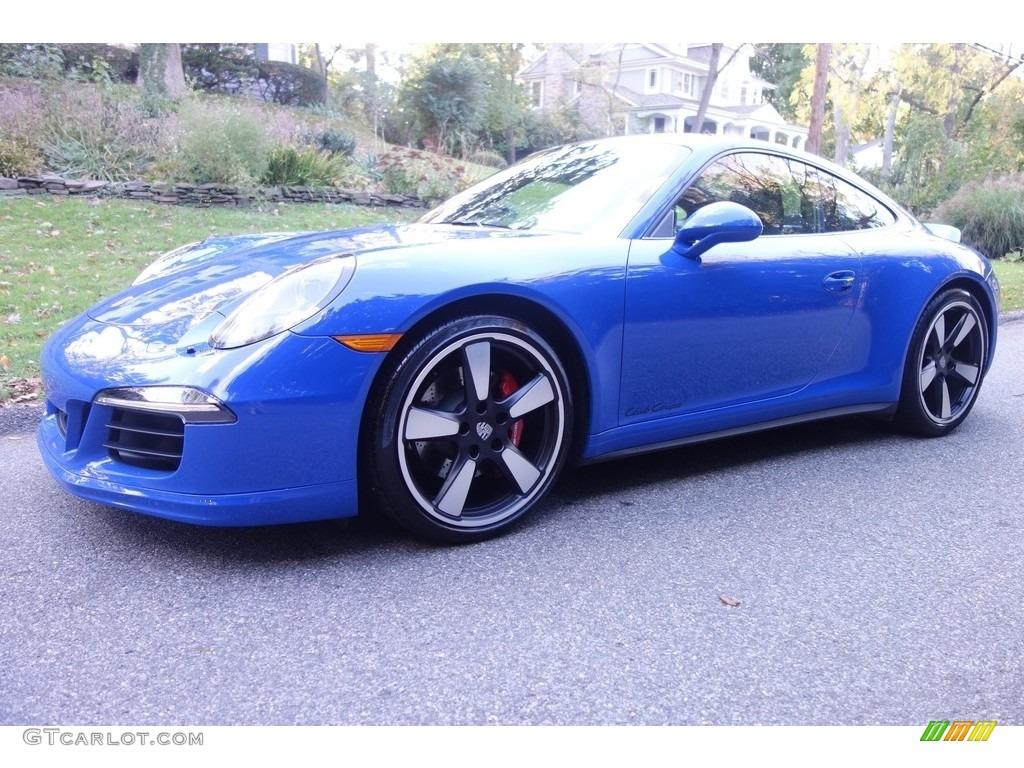 2016 911 GTS Club Coupe - Club Blau, Blue Paint to Sample / Black photo #1