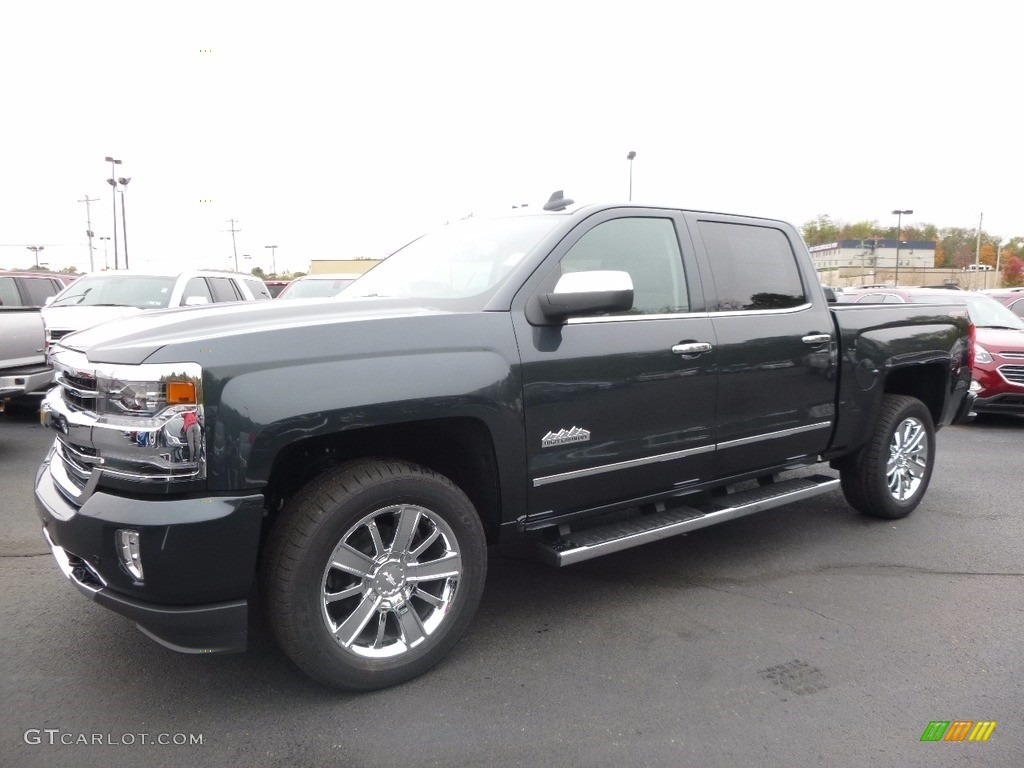 Graphite Metallic 2017 Chevrolet Silverado 1500 High Country Crew Cab 4x4 Exterior Photo #116616404