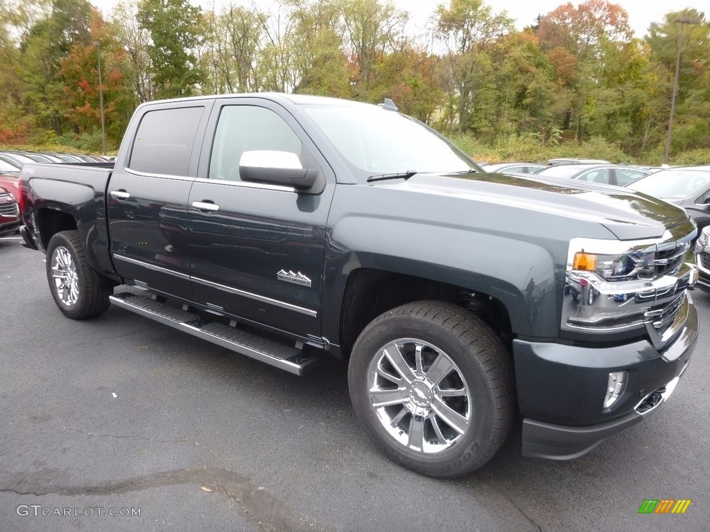 Graphite Metallic 2017 Chevrolet Silverado 1500 High Country Crew Cab 4x4 Exterior Photo #116616446