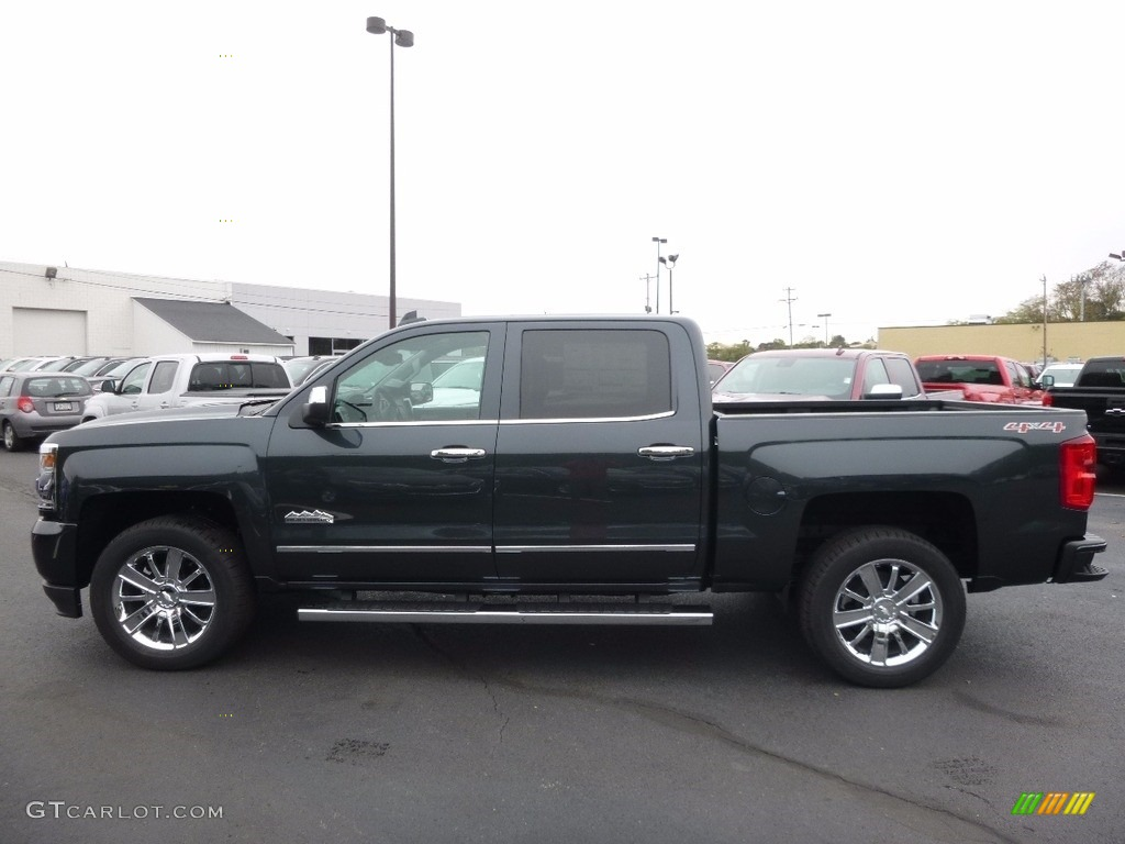 Graphite Metallic 2017 Chevrolet Silverado 1500 High Country Crew Cab 4x4 Exterior Photo #116616560