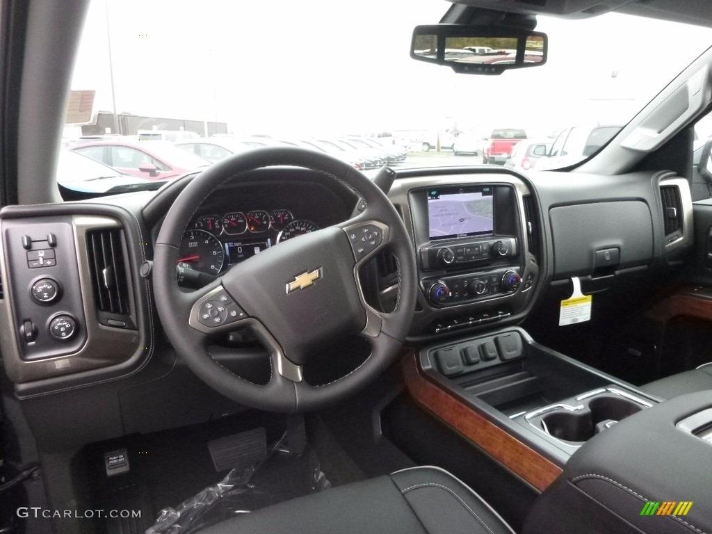 High Country Jet Black Medium Ash Gray Interior 2017 Chevrolet Silverado 1500 High Country Crew