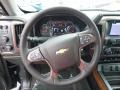 2017 Chevrolet Silverado 1500 High Country Jet Black/Medium Ash Gray Interior Steering Wheel Photo