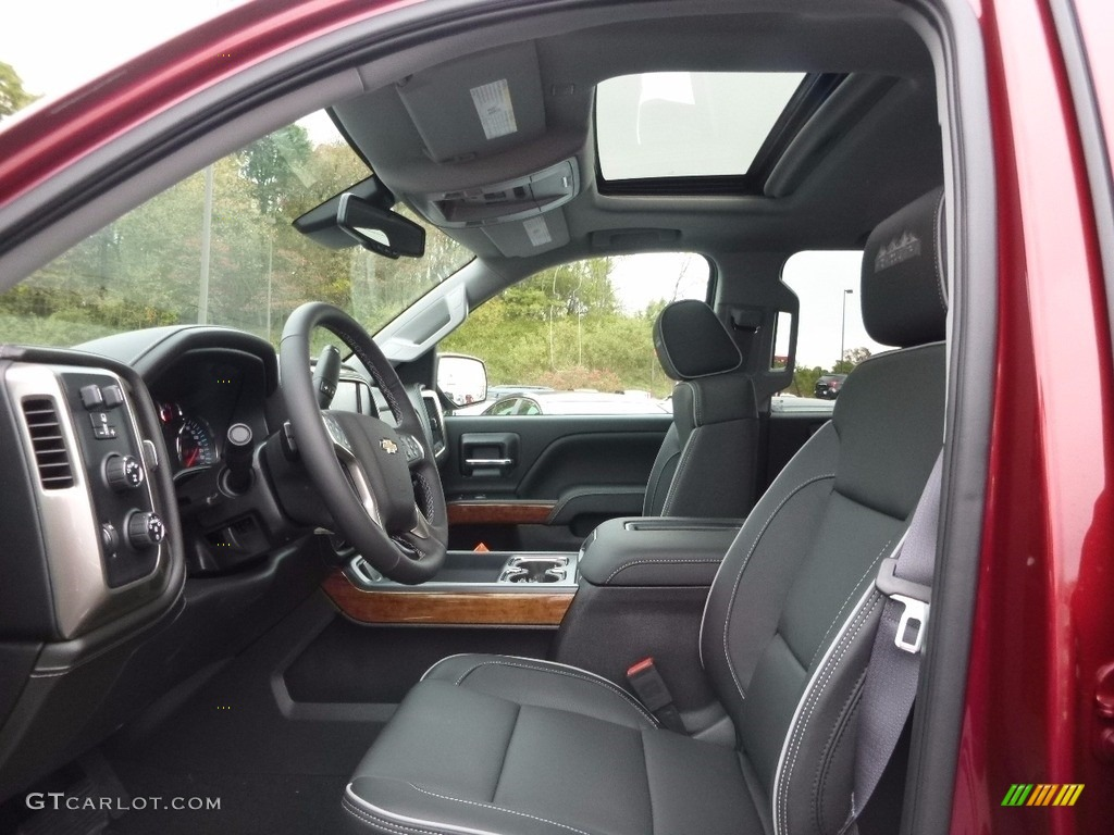 Dark Ash/Jet Black Interior 2017 Chevrolet Silverado 1500 High Country Crew Cab 4x4 Photo #116617091