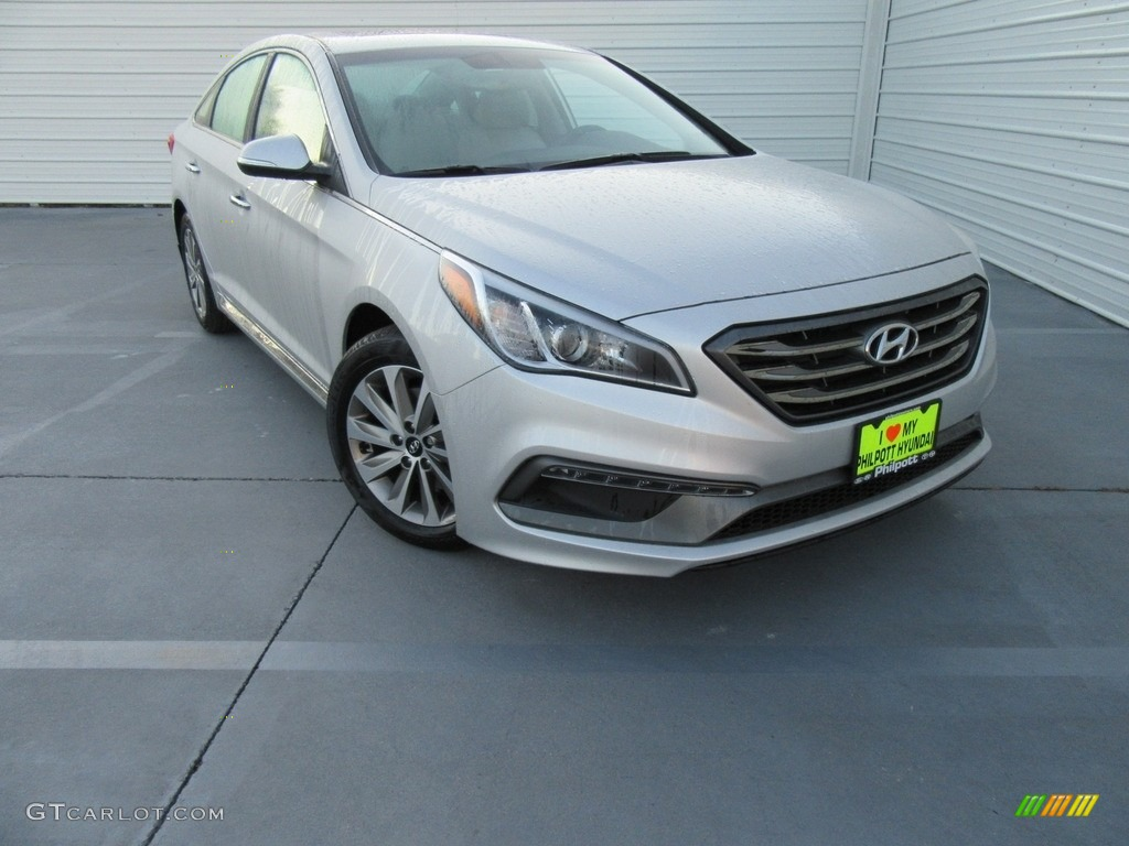 Silver Hyundai Sonata >> 2017 Symphony Silver Hyundai Sonata Sport #116633333 Photo #3 | GTCarLot.com - Car Color Galleries