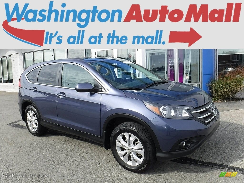 2014 CR-V EX AWD - Twilight Blue Metallic / Gray photo #1