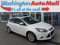 2012 White Platinum Tricoat Metallic Ford Focus Titanium 5-Door #116665449