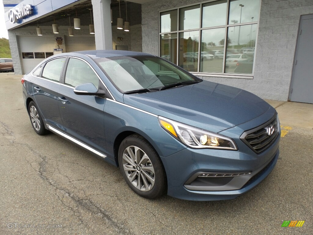 2017 Nouveau Blue Hyundai Sonata Sport #116665446 Photo ...