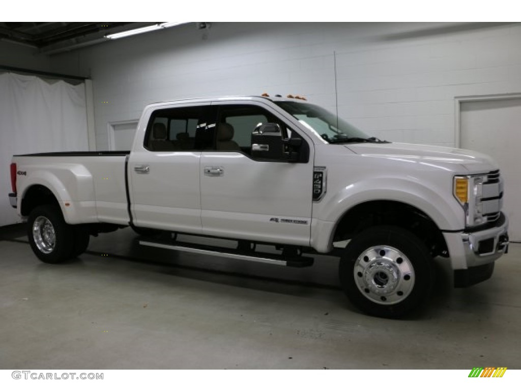 ford f450 super duty king ranch crew cab 4x4 dually in white platinum 2017 2018 best cars