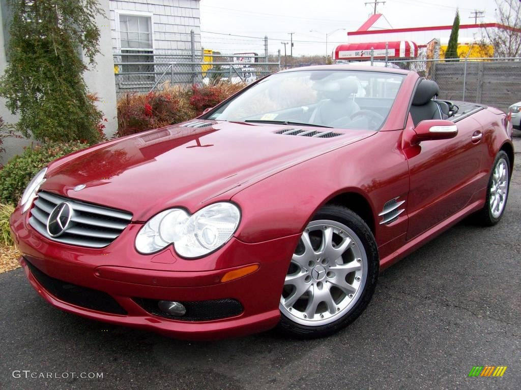 2005 Firemist Red Metallic Mercedes Benz Sl 500 Roadster 1152667